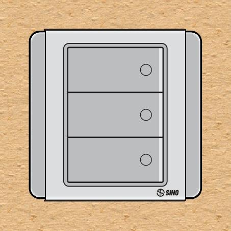 Công tắc ba 1 chiều  có dạ quang S66D3