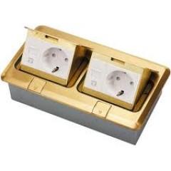 Ổ cắm điện âm sàn đôi 402/DO/A ( đồng)