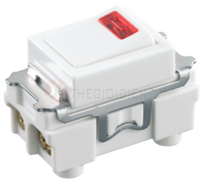 Công tắc D có đèn báo dùng cho máy nước nóng, máy lạnh (không chữ) 250VAC - 20A